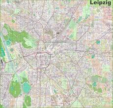 map of leipzig large detailed map of leipzig