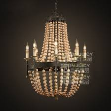 wood bead ceiling light buy wooden chandeliers beaded and get free shipping on aliexpress com