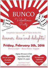 bunco party you are invited to the soroptimist of alpine s bunco