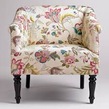 Barrel Accent Chair Unique Floral Print Accent Chairs In Wingsberthouse Flower Print