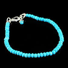 turquoise beads bracelet images Natural faceted turquoise beads bracelet round shape gemsmore JPG