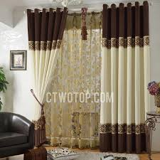 Brown Blackout Curtains Chenille Coffee And Ivory Blackout Curtains