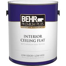 home depot paints interior behr premium plus 1 gal white flat ceiling interior paint 55801