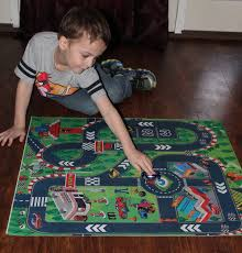 Kids Race Track Rug by Amazon Com Road Racing Track Toddler City Play Mat Kids Floor