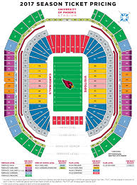 stadium floor plan azcardinals com pricing map