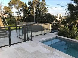 piscine en verre de sécurité piscine en fer et verre dans le gard à nîmes