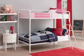 White Bunk Bed Frame Dhp Furniture Twin Over Twin Bunk Bed White