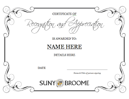 marketing u0026 communications template certificate of recognition