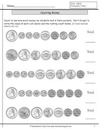 counting coins worksheets from the teacher u0027s guide