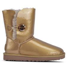 ugg s boot ugg australia brand bailey button mirage sheepskin gold boots
