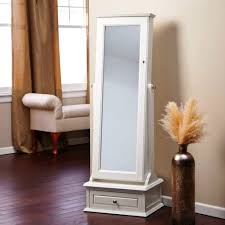Jewelry Box Mirrored Armoire Fashionable Standing Mirrored Jewelry Armoire Fabulous Home Ideas