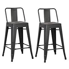 industrial metal bar stools with backs amazon com ac pacific modern industrial metal barstool with bucket