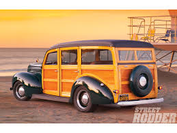 dark green station wagon 1940 ford station wagon from salt to surf rod network