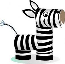 zebra tissue paper 60 animal themed toilet paper roll crafts zebra craft