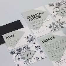 black rose wedding invitation suite by love ink design