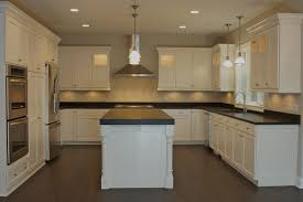 Painted Shaker Kitchen Cabinets Custom White Painted Cabinets With Flat Panel Shaker Style Door