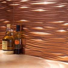 kitchen u0026 dining metal frenzy in kitchen copper backsplash ideas