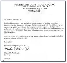 examples recommendation letter about letter format