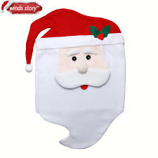 Santa Chair Covers Aliexpress Com Buy 1pcs Christmas Home Decoration Flannel Santa