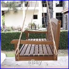 hanging porch swing outdoor tray natural furniture garden chair