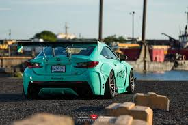 lexus vossen turquoise rocket bunny lexus rc f with vossen wheels gtspirit