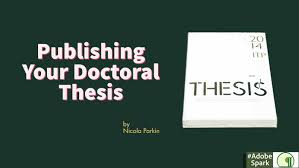 Thesis Catalogue Publishing Your Doctoral Thesis Thesis Hub