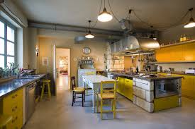 yellow kitchen island lighting rustic farmhouse in rosignano