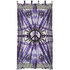 Cotton Tie Top Curtains by Peace Sign Purple Cotton Curtain Panel Tie Dye Tab Top Curtain
