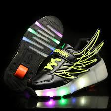 heelys light up shoes light up trainers summer new single round heelys sports shoes