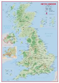 map of uk uk wall map physical