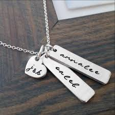 necklace with kids initials personalized necklace with kids names and parents initials