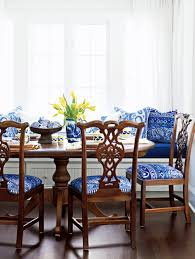 Blue Dining Room Chairs Blue And White Decor Country Style Decorating With Blue And