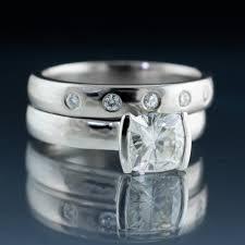 tension engagement rings cut 1 carat modified tension engagement ring