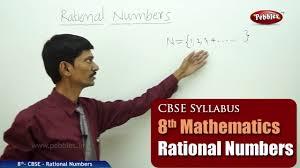 rational numbers class 8th mathematics ncert cbse syllabus