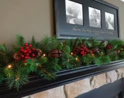 Etsy Outdoor Christmas Decor by Christmas Garland Etsy