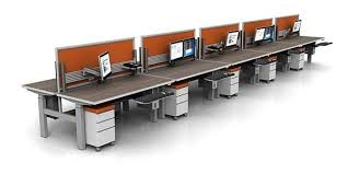 office benching systems flow height adjustable benching system direct office solutions