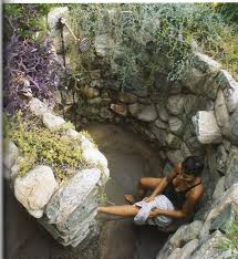 outdoor shower this rock walled shower shower ideas