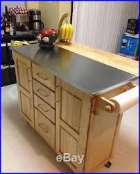kitchen island cart with stainless steel top island cart stainless steel top breakfast bar wheels cutting board