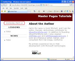 creating a site wide layout using master pages c microsoft docs