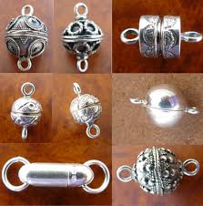 sterling silver bracelet clasps images Silver magnetic clasps jpg