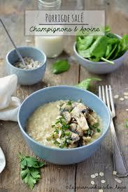 cuisine et gourmandise porridge salé avoine chignons persillés vegan sans gluten