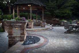 Backyard Flagstone Patio Ideas by Backyard Patio Ideas Conglua Outdoor Escapes E J Concrete And Dirt