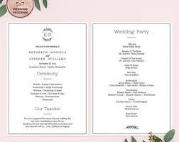 Elegant Wedding Program Elegant Wedding Programs Template Download Printable Editable