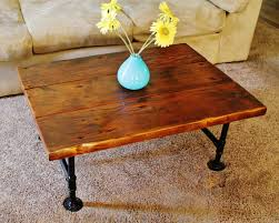 Rustic Coffee Table Legs Coffee Table Reclaimed Wood Coffee Table With Pipe Table