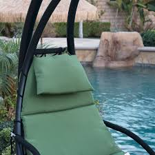 Patio Chair Swing Hanging Chaise Lounge Chair Hammock Swing Canopy Glider Outdoor