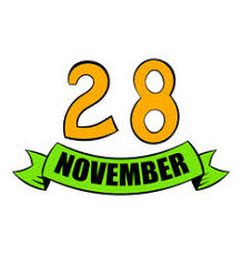 calendar for thanksgiving day royalty free vector