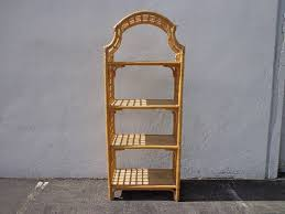 Rattan Bookcase Bookcase Rattan Woven Jute Etagere Shelves Book Case Display