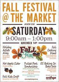 fall festival at the market