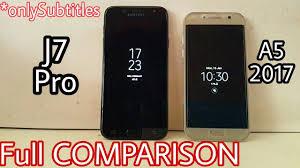 samsung galaxy j7 pro vs a5 2017 comparison