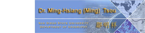 San Diego State Map by Dr Ming Hsiang Ming Tsou Professor Department Of Geography